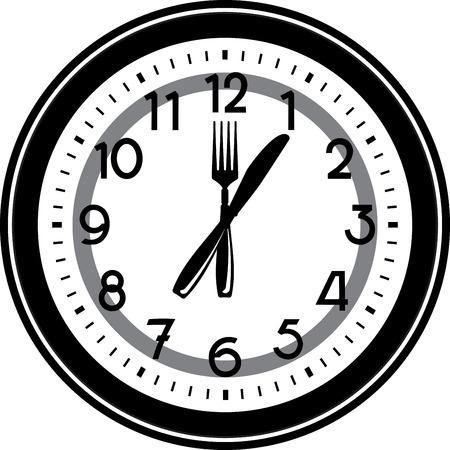 oclock: Clock display Lunch time at 1 oclock