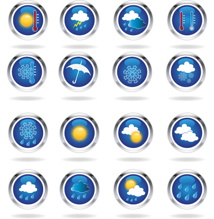 Weather icons illustration  Vector