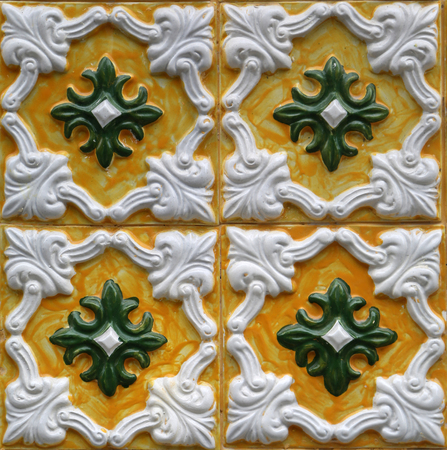 Traditional tiles from Porto, Portugal Stock Photo
