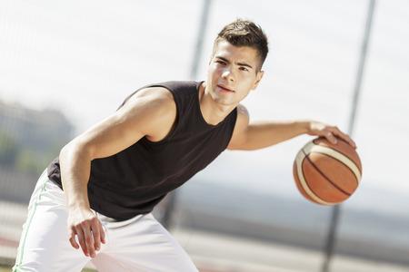 バスケット ボール選手 写真素材