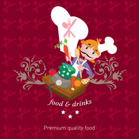 The cook illustration  Vector