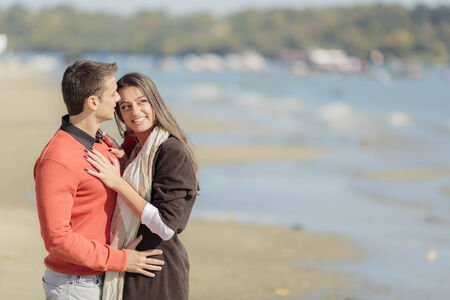 september 2: Young couple on the beach