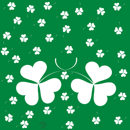 Clover seamless pattern illustration  Vector