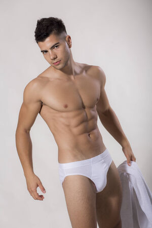 athletic body: Young man