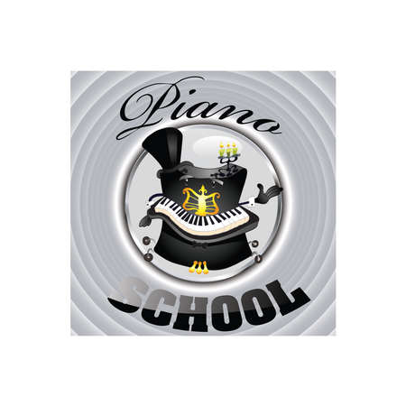 Piano school Vector