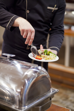 buffet table: The food Stock Photo
