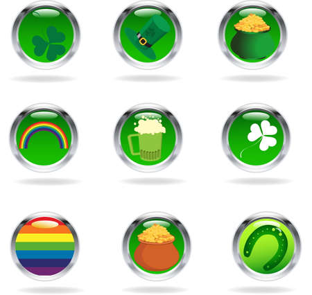 Saint Patricks buttons Vector