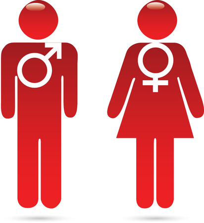 Male female signs Vector