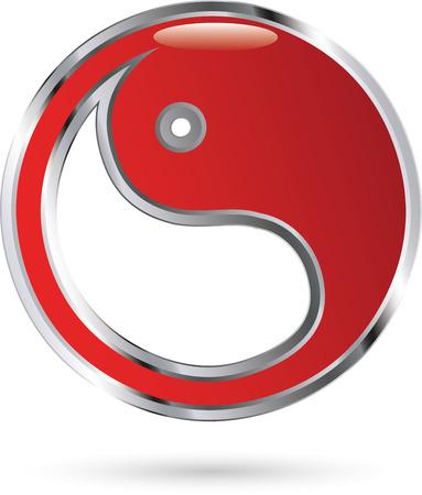 Yin Yang icon Ilustrace