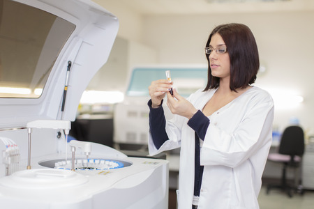 Young woman in the medical laboratory Stock Photo - 27924739