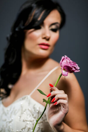 Bride with rose photo