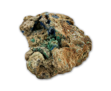 Malachite and azurite minerals photo