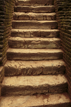 Ancient stone stairs photo