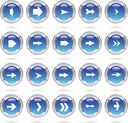 Blue round arrow icons Vector