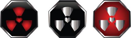 radioactive sign: Radiactivos signo