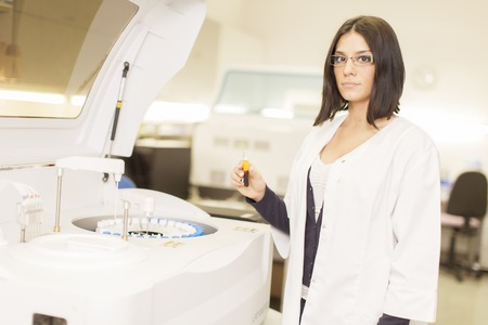 Young woman in the medical laboratory photo