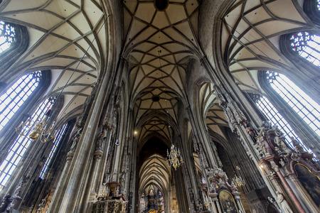 Vienna, Austria - February 5, 2014  Interior of St  Stephen