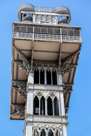 justa: Santa Justa Lift in Lisbon, Portugal