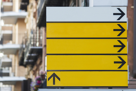 adboard: View at the empty street sign Stock Photo