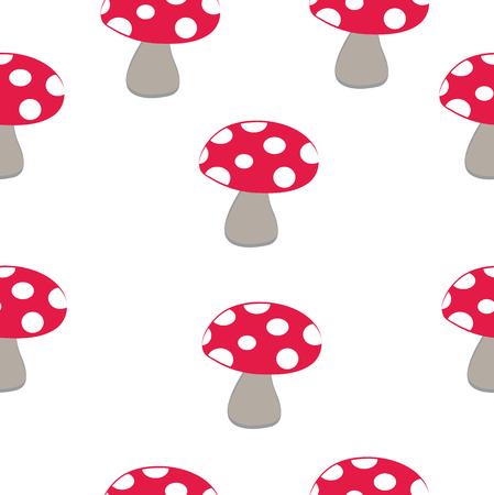 Mushroom pattern Vector