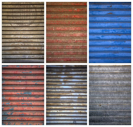 Set of metal textures photo