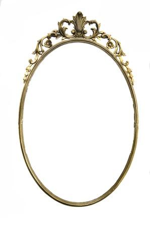 decorative frame: Empty oval frame