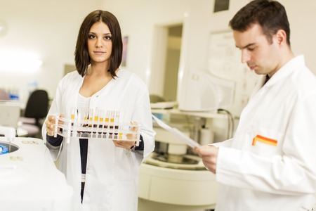 Young people in the medical laboratory photo