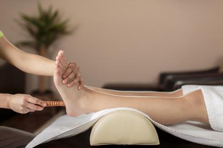 Closeup of the foot massage photo