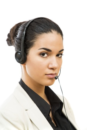 Young call operator photo