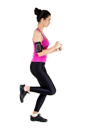 Young woman exercising photo