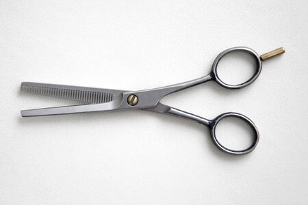 cutting hair: Hairdresser scissors Stock Photo