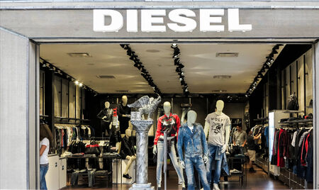 branded: DENVER, USA - JUNE 25, 204: View at Diesel shop in Denver. Diesel is an Italian design company founded at Molvena, Italy at 1978. At 2009 company have more than 2200 employees.
