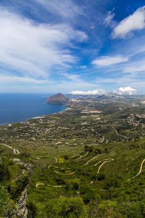 View towards Monte Cofano from Erice, Sicily photo