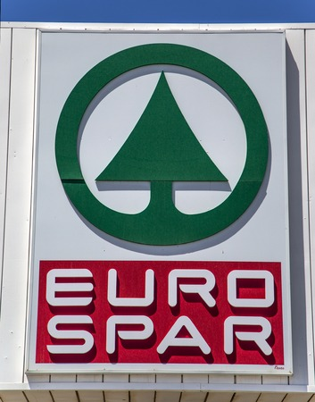 spar: RAGUSA, ITALY - APRIL 30, 2014: Detail from the Spar store in Ragusa. Spar is an international retail chain and franchise founded in 1932 with approximately 12,500 stores in 35 countries worldwide Editorial