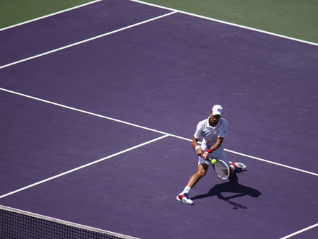 ericsson: Miami, USA - April 1, 2012: Novak Djokovic at the final match at Sony Ericsson Open in Miami, USA at April 1, 2012.  Djokovic defeating Andy Murray 6-1, 7-6(4) to triumph for the third time at Crandon Park