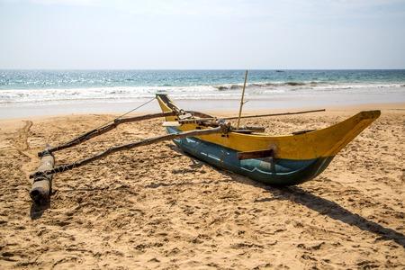 Traditional Sri Lankan fishing boat photo