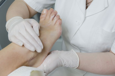 Pedicure treatment Stock Photo