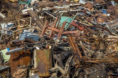 Garbage pile Stock Photo
