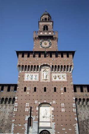 sforza: Torre del Filarete at Sforza Castle in Milan, Italy Editorial
