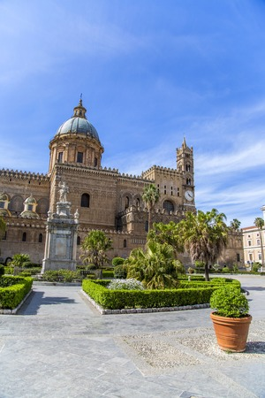 Detail of the Palermo cathedral in Italy photo