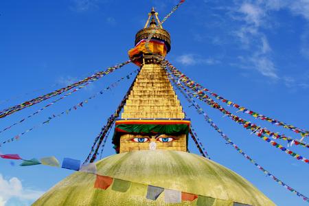 budha: Budha Stupa in Kathmandu, Nepal Stock Photo