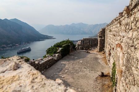 world natural heritage: Saint John fortress in Kotor, Montenegro. From 1979 fortress of Kotor is at list of World Heritage Sites as part of Natural and Culturo-Historical Region of Kotor Editorial