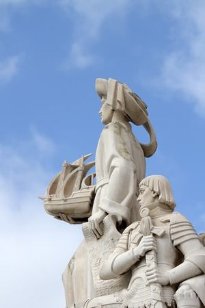 discoveries: Detail of Padrao dos Descobrimentos (Monument of the Discoveries) in Lisbon, Portugal. This 52 metre-high monument was built for the World Fair in 1940. Editorial