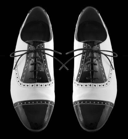 tango: Male tango shoes Stock Photo