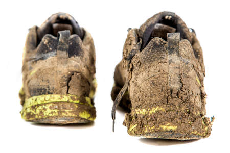 muddy clothes: Dirty sneakers