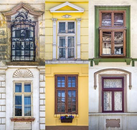 old windows: Old windows Stock Photo