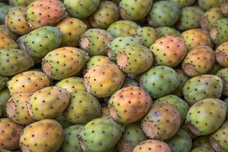 Prickly Pears on the market in Essaouira, Morocco Stock Photo