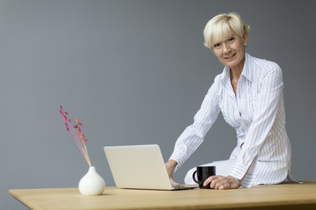 Woman working in the office photo