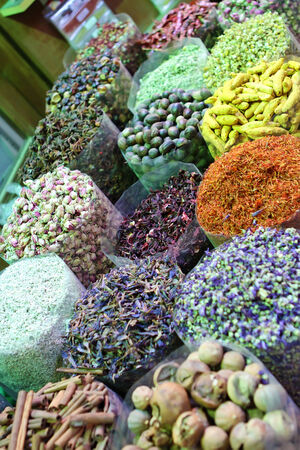 Spices on the Dubai market photo