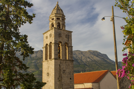 Church and Monastery Sveti Nikola in Korcula, Croatia photo
